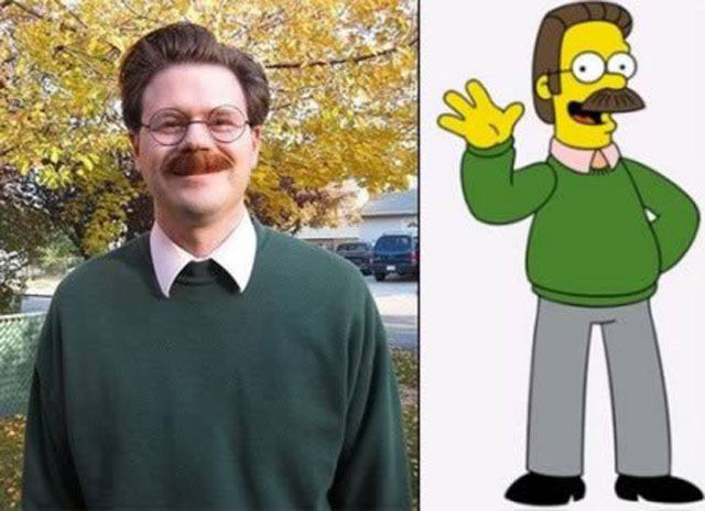 If this person doesn't look like Ned Flanders in real life, I don't know who else would. Surreal.