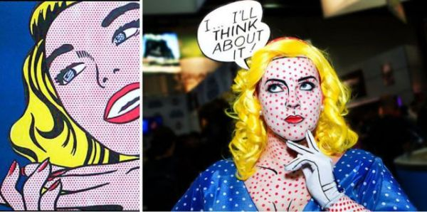 Channel your face-painting skills to be a Pop Art figure.