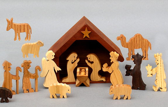 Wood Art Wooden Nativity Sets, Handmade In America