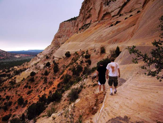 Hikers in Johnson Canyon