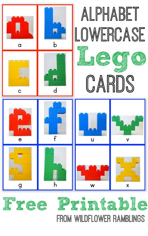 Alphabet Lego Cards Lowercase {free printable!} - Wildflower Ramblings