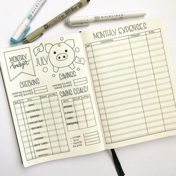 Easy Budget Trackers That Will Save Your Finances - Wildflowers and