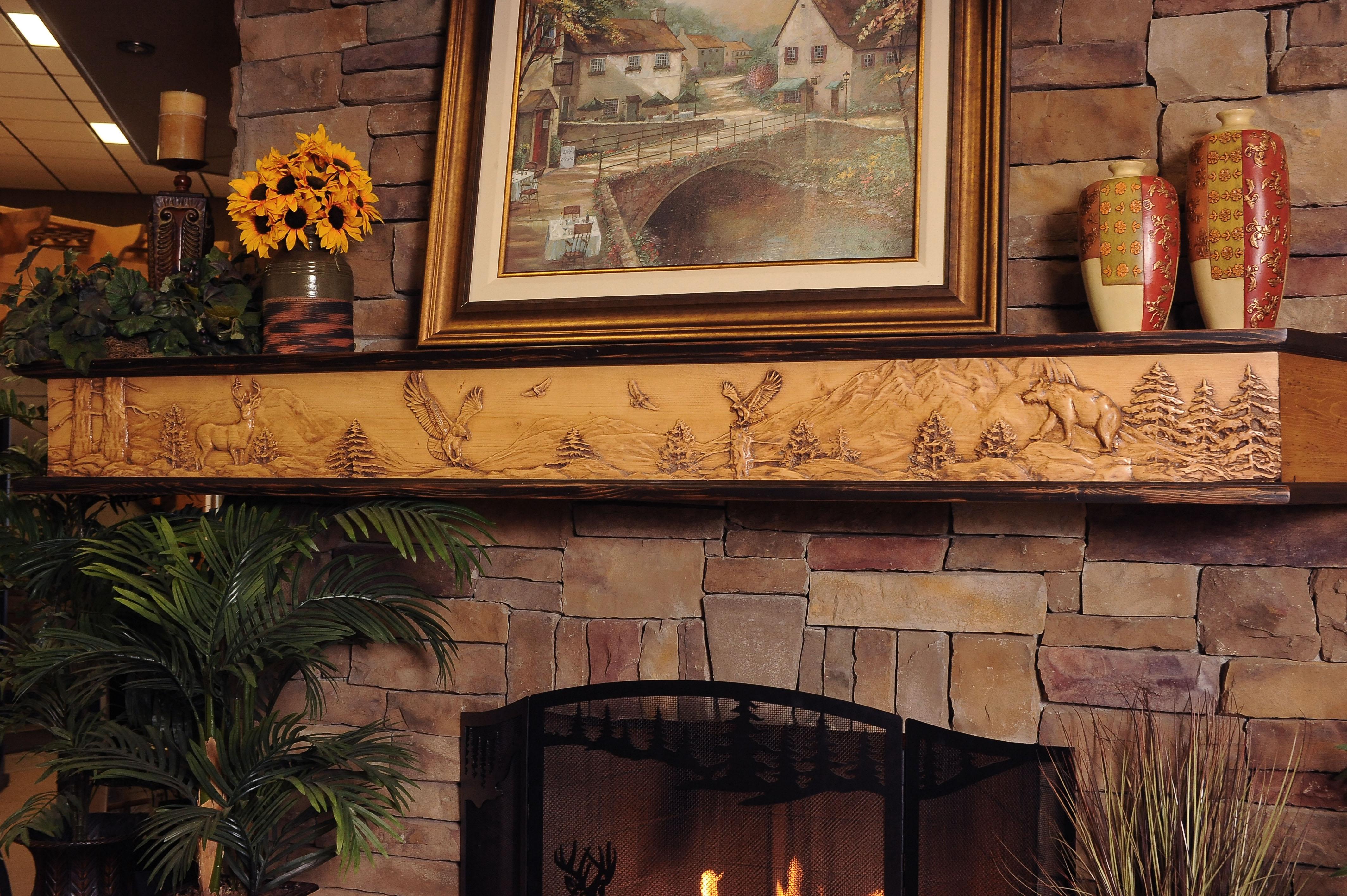 Cm 133 Wild Life Chorus Fireplace Mantels Shelves