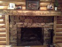 Log Home Fireplace Mantel   Fireplace Mantels & Shelves