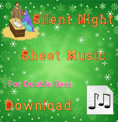 Silent Night - Double Bass Sheet Music Download