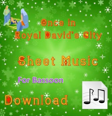 Once in Royal David's City Bassoon Sheet Music