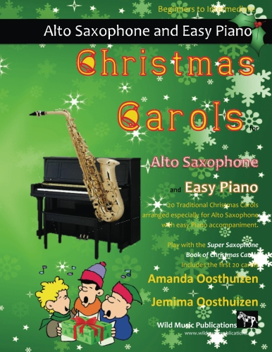 Christmas Carols for Alto Saxophone and Easy Piano