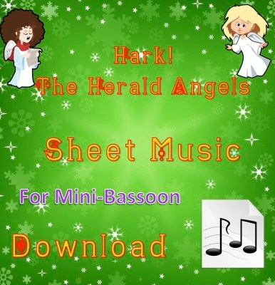 Hark! The Herald Angels Sing - Mini-Bassoon Sheet Music Download