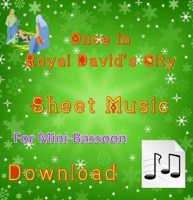 Once in Royal David's City Mini-Bassoon Sheet Music