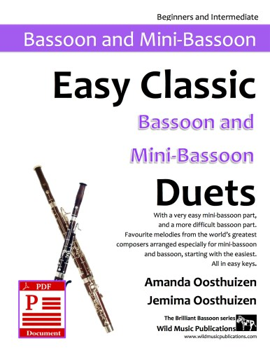 Easy Classic Bassoon and Mini-Bassoon Duets Download