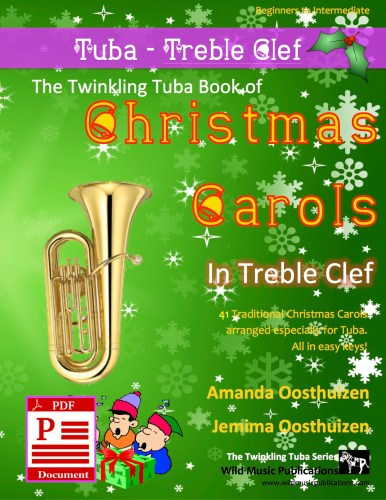 The Twinkling Tuba Book of Christmas Carols in Treble Clef Download