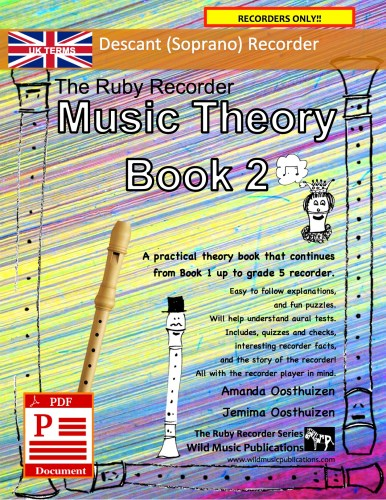 The Ruby Recorder Music Theory Book 2 - UK Terms Download