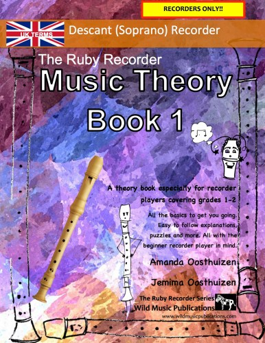 The Ruby Recorder Music Theory Book 1 - UK Terms