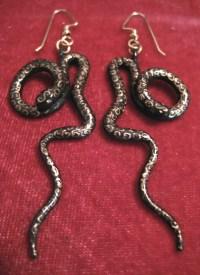 Wild Nature Theme Jewelry - Snake Earrings