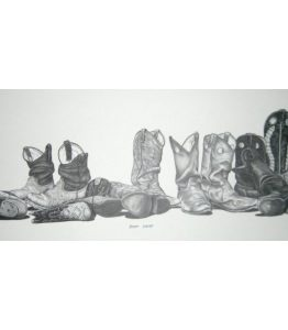 Bernie Brown - Cowboy boots lined up