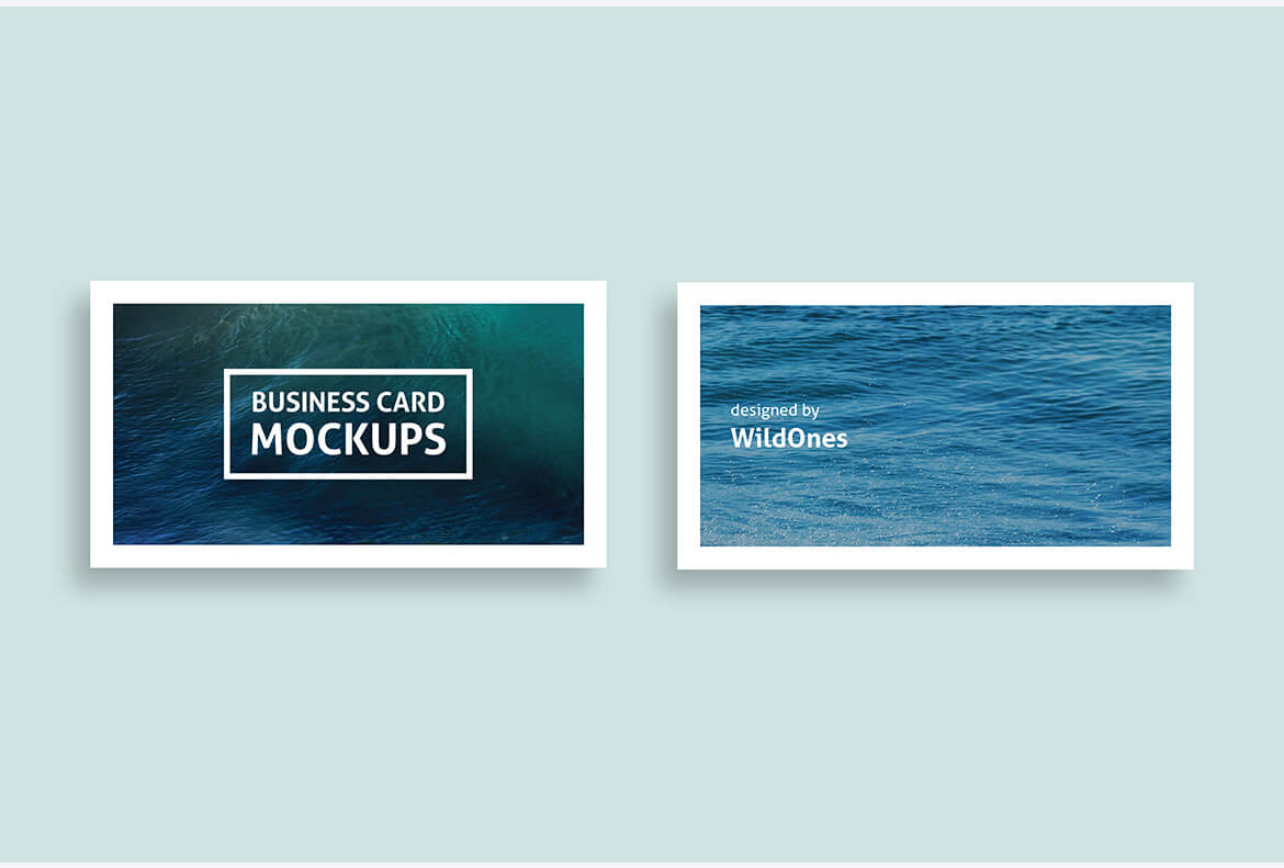 Card Mockup High Quality Simple Business Card Mockup By Wildones Team. Only High