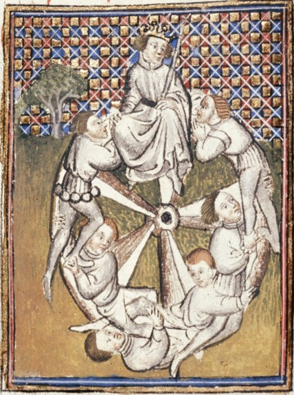 Medieval View of Fortune's Wheel