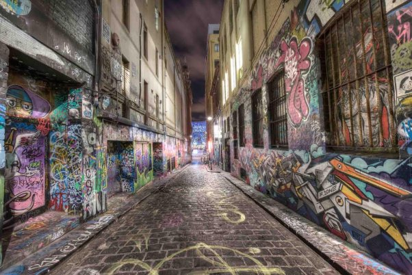 Hosier Lane, Melbourne Australia by Dale Bowerman via Business Insider