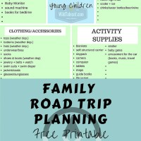 Road Trip Packing List for Families with Babies and Young Children