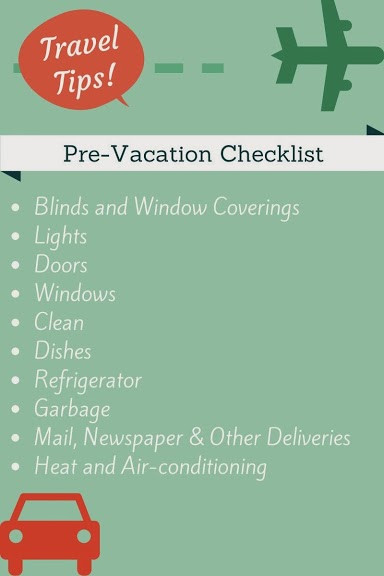Pre-Vacation Checklist - wildtalesof