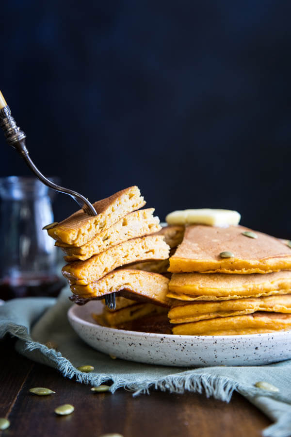 Buttermilk Pumpkin Pancakes | wildwildwhisk.com