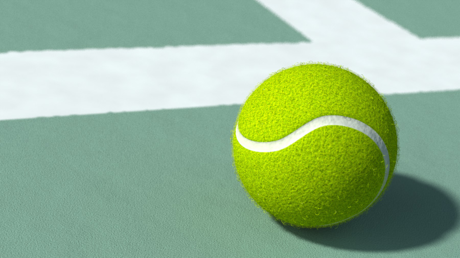 Tennis ball Foundry Community - why is there fuzz on a tennis ball