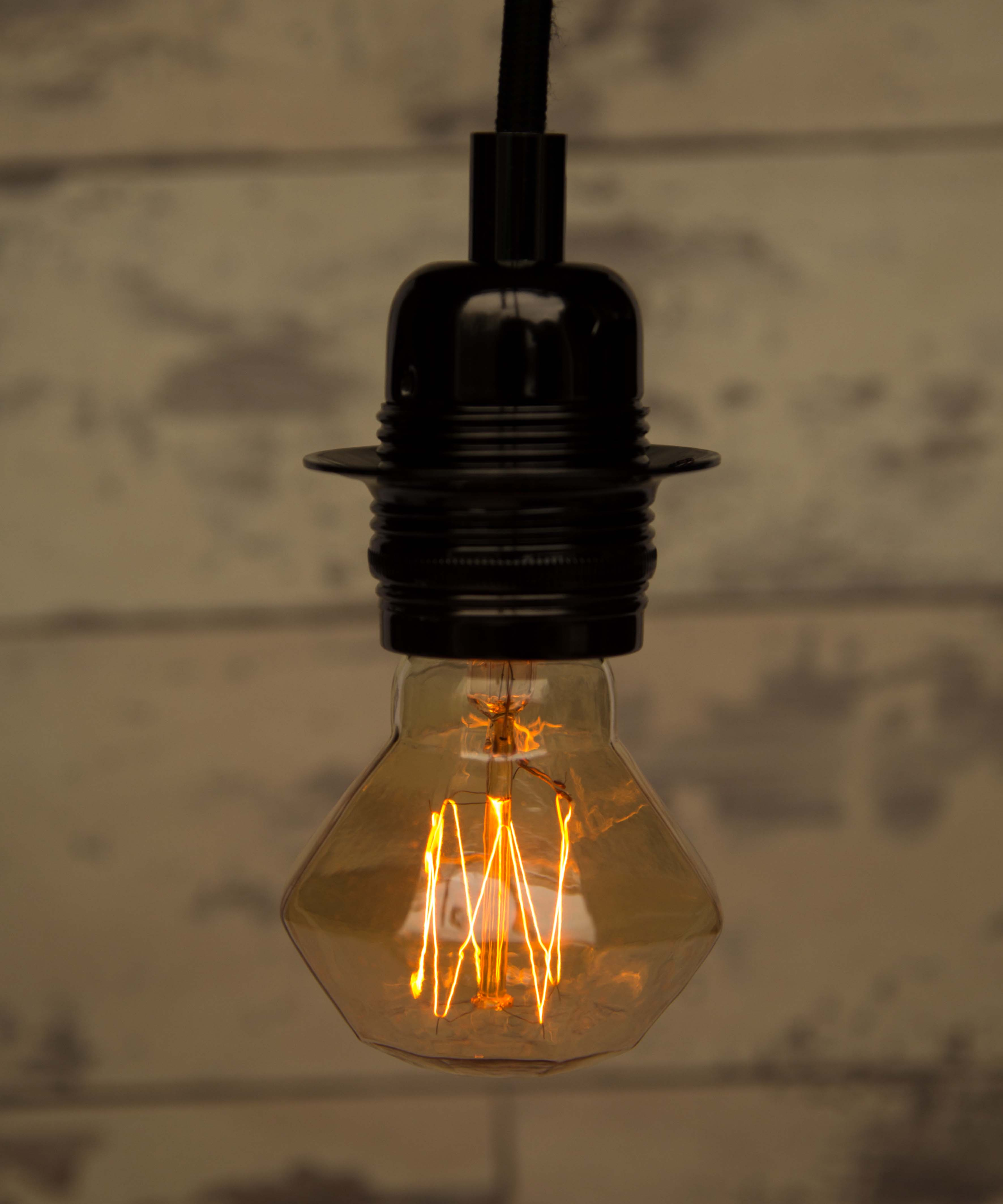 Industrial Looking Light Bulbs Edison Retro Mini Diamond Squirrel Cage Vintage Filament