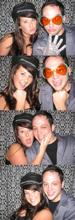 Couple having fun in the Williamsburg Photo Booth