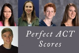 Five Students Earn Perfect ACT Score