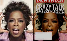 original photo of oprah next to newsweek cover image