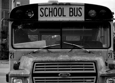 School Bus Number 21, Lake Avenue Parking Lot by Bill Wolff