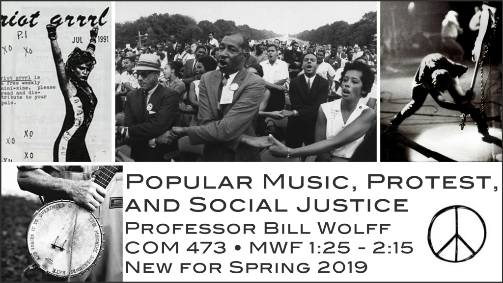 Popular Music, Protest, and Social Justice, Spring 2019