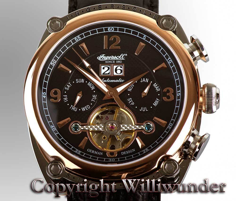 Damenuhr Wasserdicht Williwunder Watches Ingersoll Cimarron 6907rbk