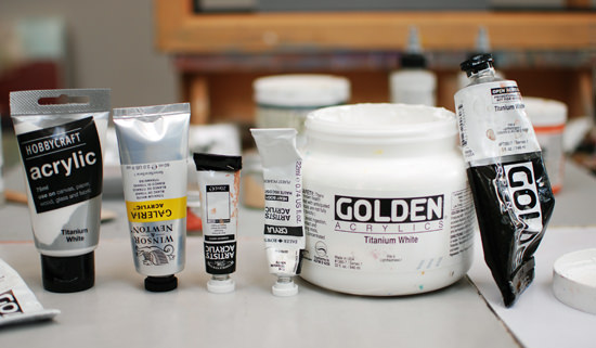 How to choose the Perfect White for your Acrylic Painting will