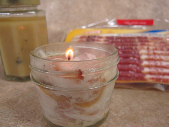 Smashed Bacon Candle