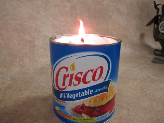 Crisco Candle