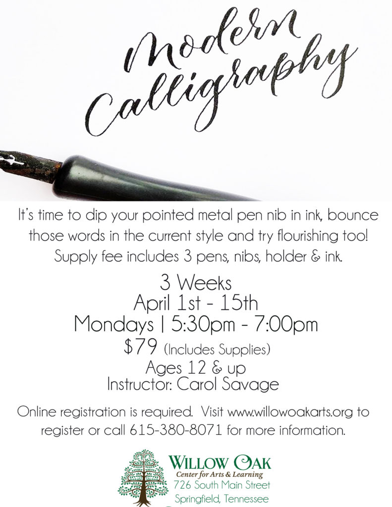 Calligraphy For Beginners Online Modern Calligraphy April 1 2019