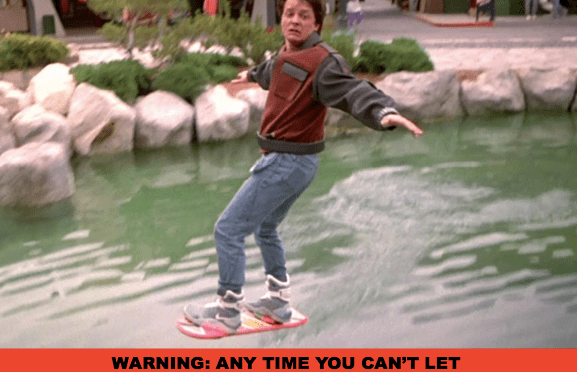 No escaping Biff using the hoverboard because the Engrish self-balancing scooter owner's manual rules out drifting off the ground
