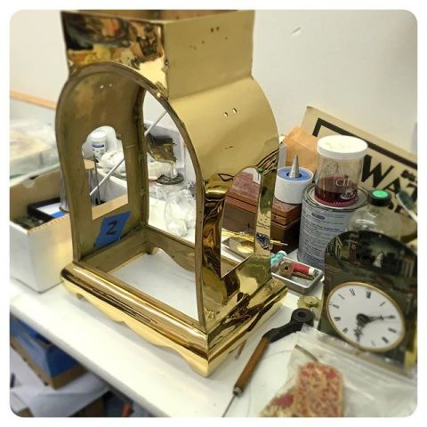 gold clock restoration