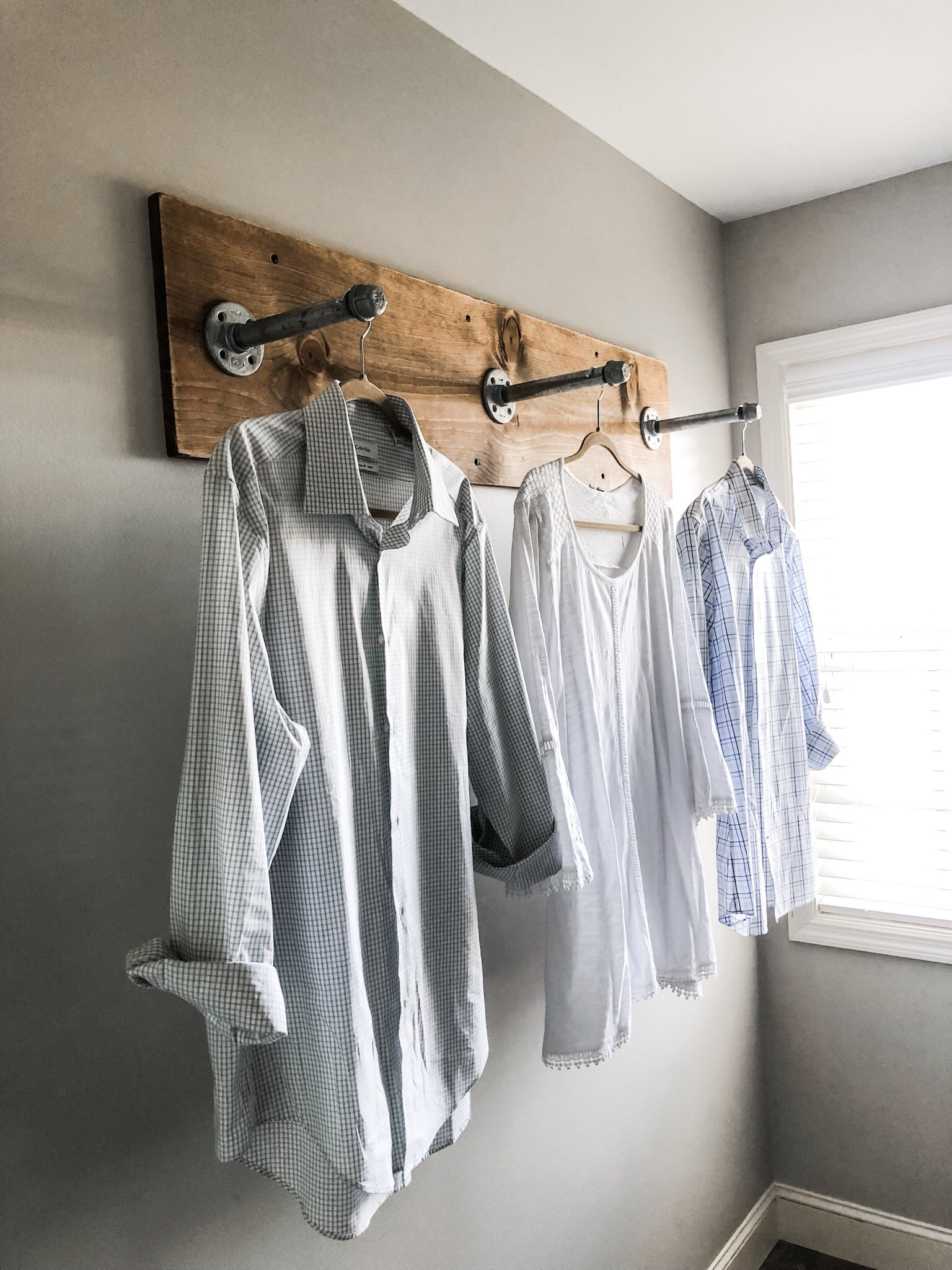 Industrial Clothing Rack Diy Clothing Rack For Your Laundry Room With Industrial Pipes And
