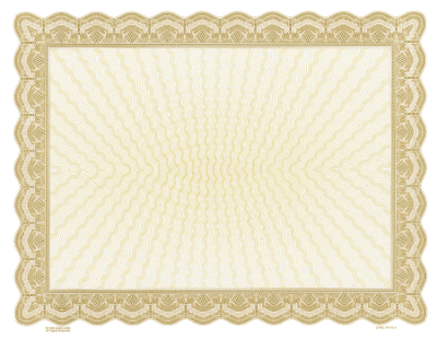 Laser Gold Blank Certificate \u2013 Wilson Awards