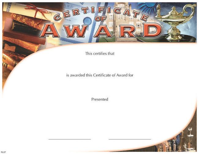 Student Council Certificate \u2013 Wilson Awards