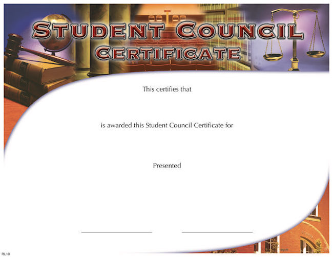 Fill In The Blank Certificates \u2013 Page 2 \u2013 Wilson Awards - student council certificates
