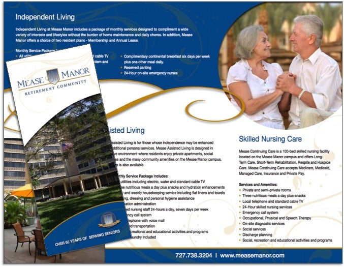 Assisted Living Brochure Sample - Wilson Printing USA Wilson - Sample Marketing Brochure