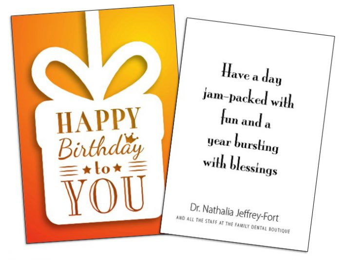 Birthday Card Insert Sample - Wilson Printing USA Wilson Printing USA