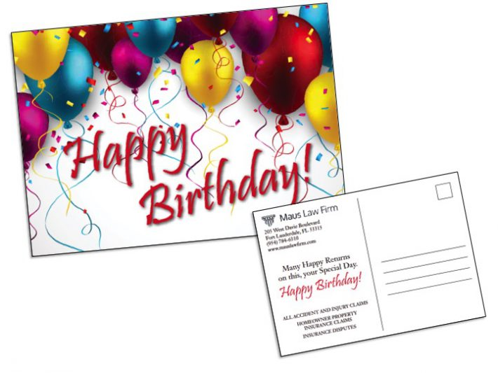 Birthday Card Insert Sample Wilson Printing USA - Birthday Card Sample