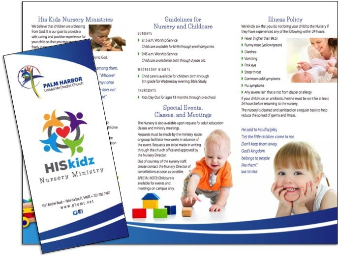 church-nursery-program-brochure-sample - Wilson Printing USA