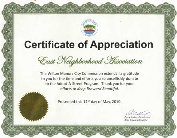 parent appreciation certificate template - certificate of appreciation