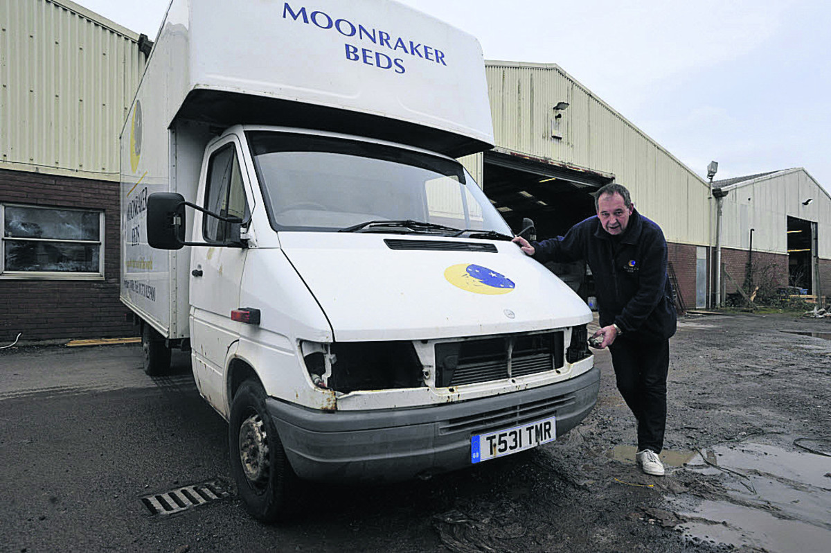 Moonraker Beds Westbury Bed Company S Van Written Off By Theft Wiltshire Times