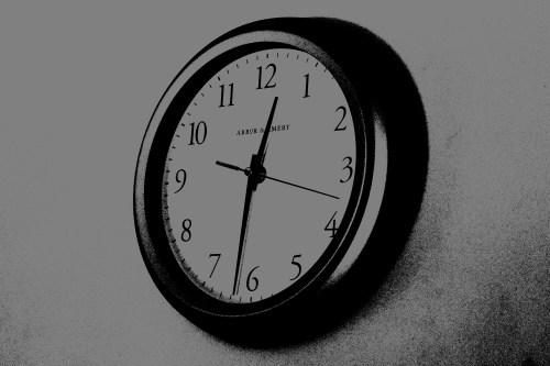 posterized clock